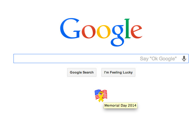 Google Memorial Day Ribbon