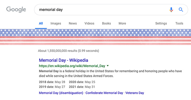 Google Finally Honors Memorial Day In A Big Way