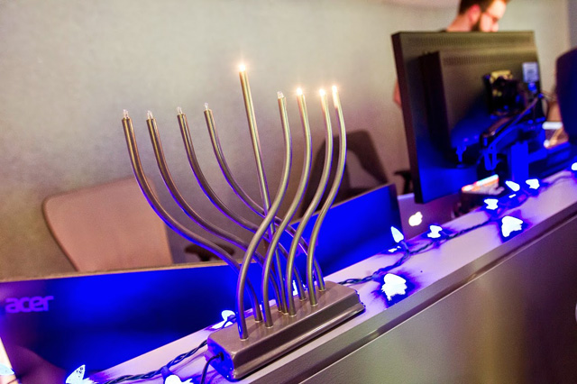 Jewglers 8th Day Hanukkah Menorahs