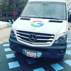 Google Logo On Mercedes Van