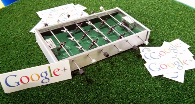 Google Mini Foosball Table