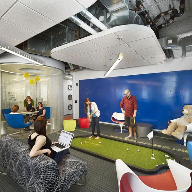 Google Cambridge Mini Golf