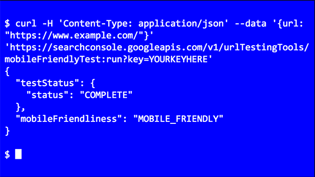 Google Mobile-Friendly Test API