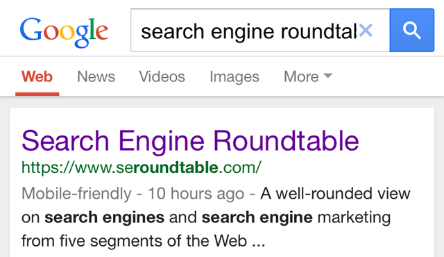 SER - Google Mobile Friendly Labels
