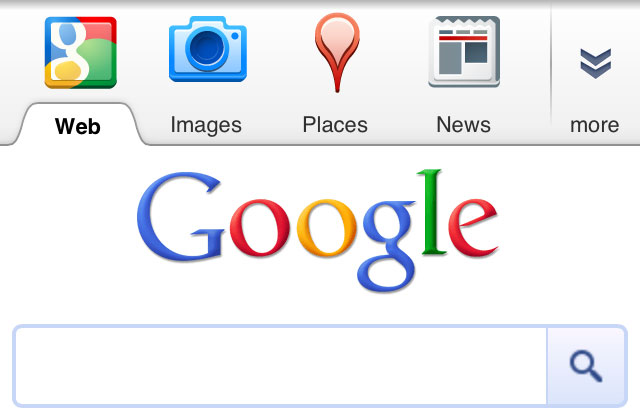 Google Mobile Top Bar