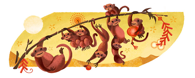 Google Monkeys Logo Is For The Lunar New Year