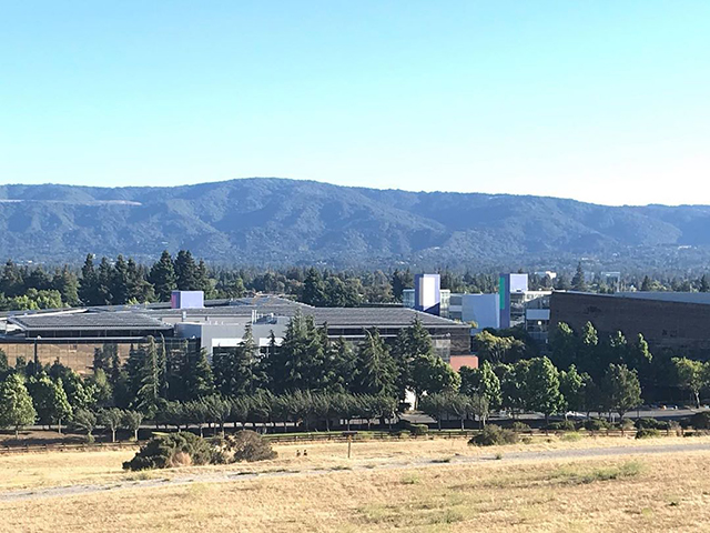 Google Mountain View Campus From Afar & Empty