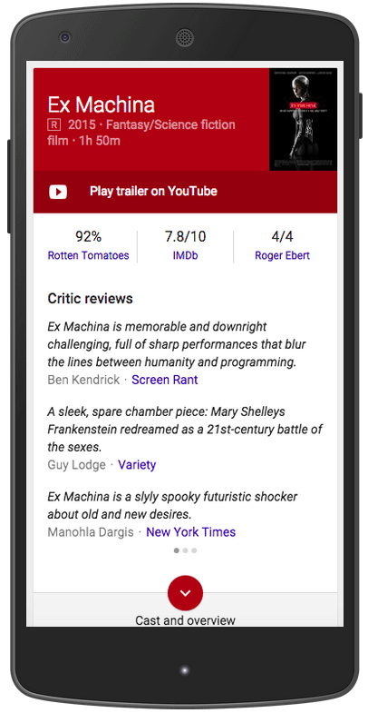 Google Schema Now Supports Movie Critic Reviews In Knowledge Graph
