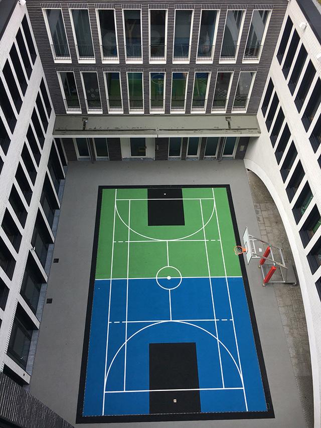 Google Munich Basketball Sports Court
