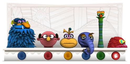 Jim Henson Google Logo