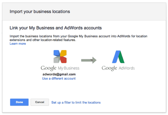 Google Wants You To Link Your Google My Business & AdWords Accounts
