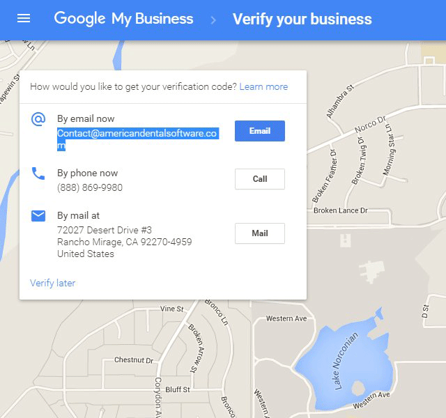 Google Maps Business Verification Via Email Address
