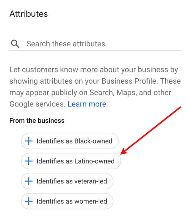 Google My Business Adds Latino-Owned Attribute