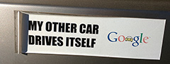Google: My Other Car Drives Itself Bumper Sticker