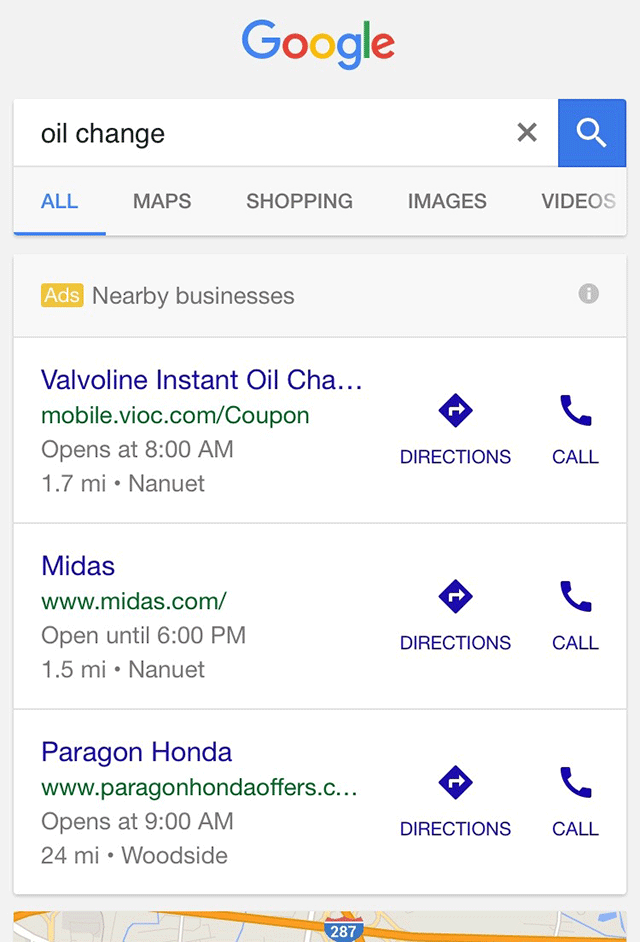 Google New Nearby Ad Format Looks Like Free Results