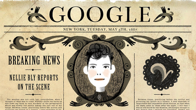 Google Nellie Bly Doodle