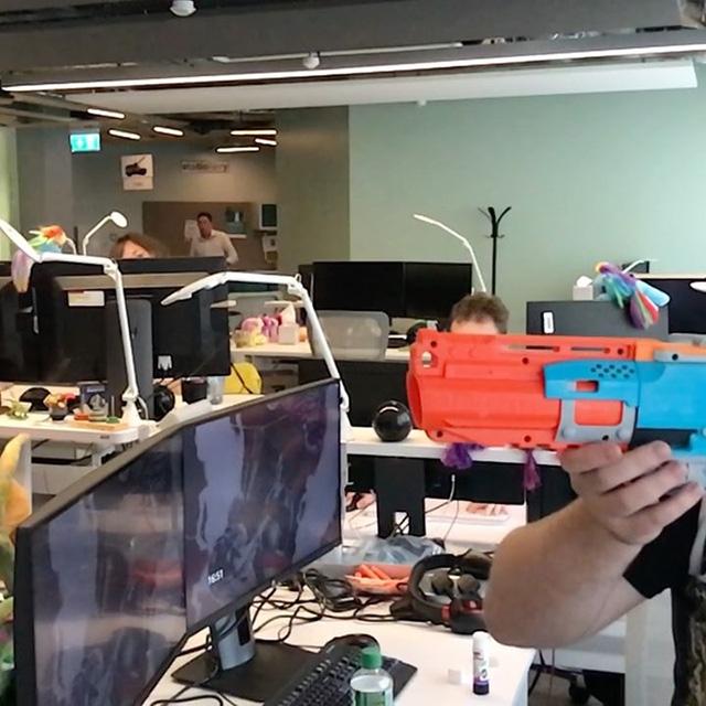 Google Nerf Gun Shooting In Action