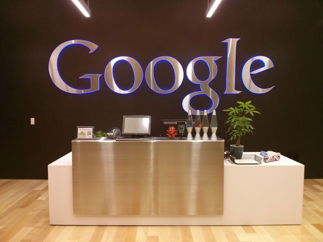 Google Reception Desk
