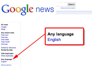 Google News Any Language