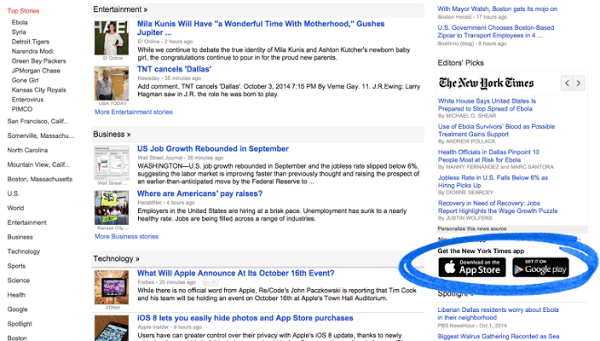 Google News Publishers App In Editors' Pick
