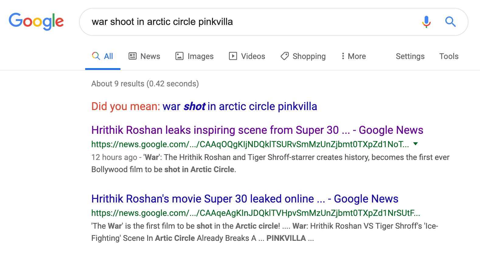 Google Indexing & Ranking Google News Search Results