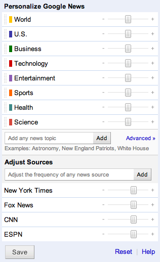 Google News Sliders