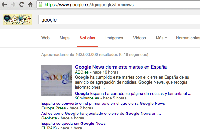 Google News In Spain