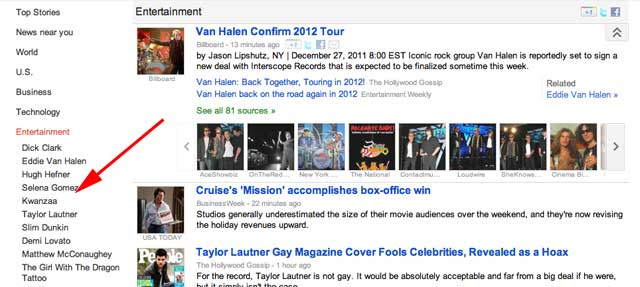 Google News Taylor Swift Bug