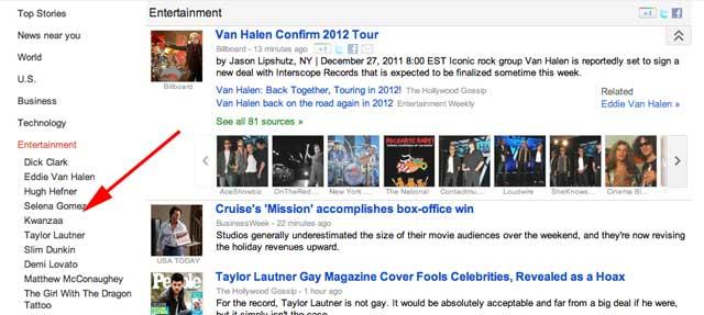 Google News Taylor Swift Bug