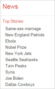 Google News Trending Topics