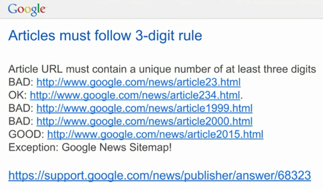 google news urls can t have years as unique identifiers sometimes