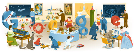 Google New Years Eve 2012 Logo