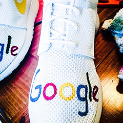 Google Nike Roshe Sneakers