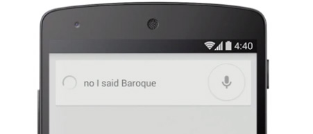 Google Voice Search Corrections