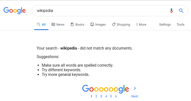 Google Search Won't Return Search Results For Some