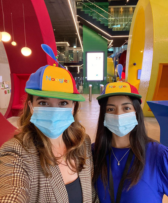 Nooglers At Google Dublin With Propeller Hats
