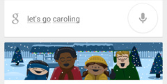 Google: Let's Go Caroling Card Small