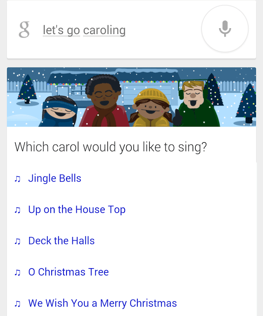 Google: Let's Go Caroling Card