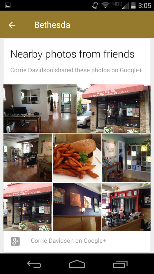 Google Now Nearby Photos From Friends