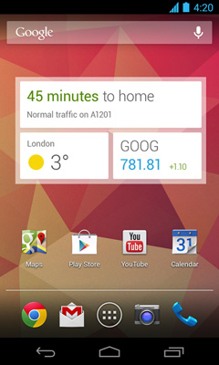 Google Now Home Widgets
