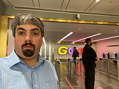 Google NYC 8th Avenue Lobby Timelapsed