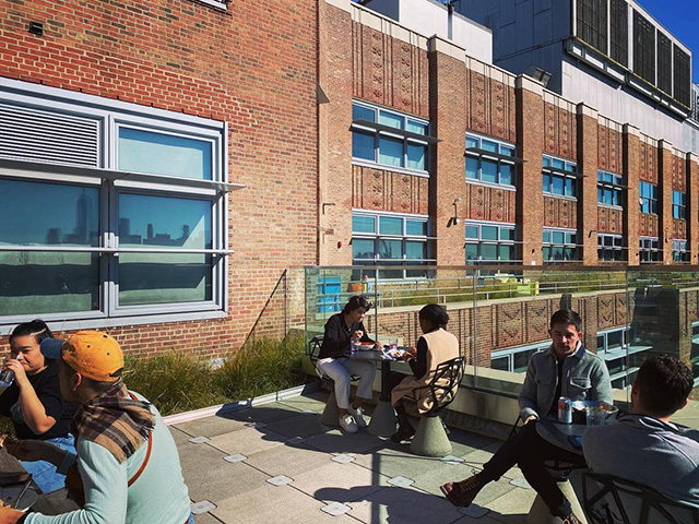 NYC Googlers Working From Balcony