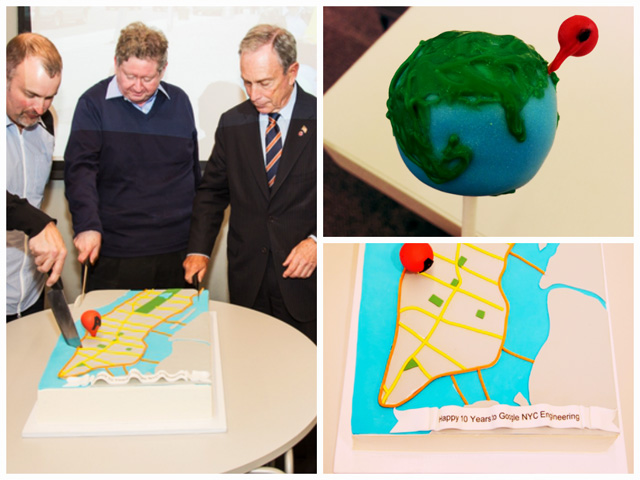 Bloomberg Cuts The Google NYC Maps Cake