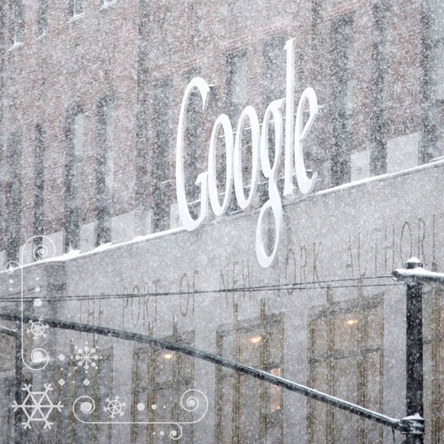 Google NYC In Snow Storm