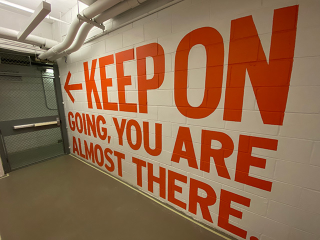 Google NYC Wall: Keep On Going, You Are Almost There