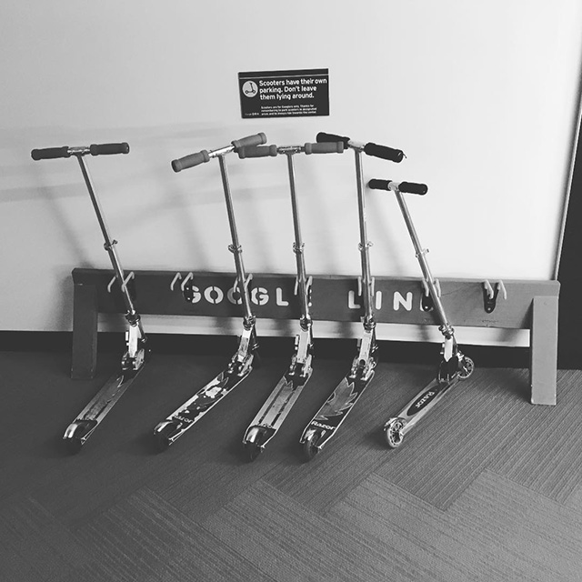 Google Razor Scooter Parking