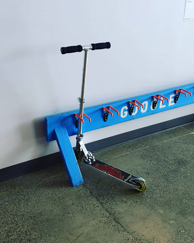 Google Scooter Rack