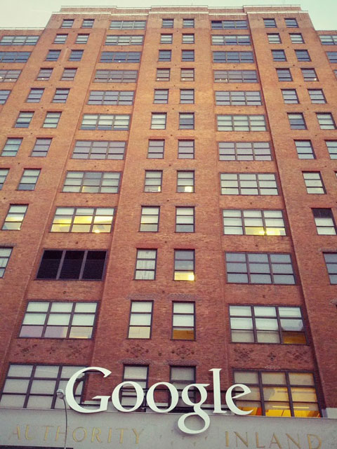 Google NYC Building Sign