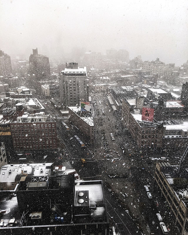 Google NYC First Snow