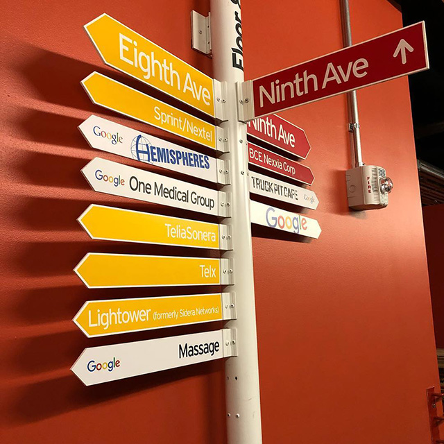 Google NYC Office Street Signs